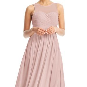 Azazie Nina Bridesmaid Dress Dusty Rose A16 NWT